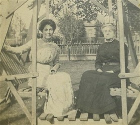 Women on swing