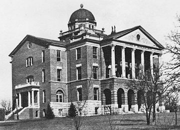 Original building of the Girls Industrial College, Denton, TX, ca. 1905. The Woman's Collection, Texas Woman's University.